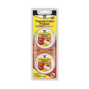 Insecticida en forma de caja portacebo, atrayente y altamente apetente para todo tipo de cucarachas